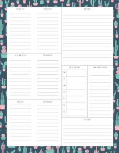 Planner Pdf, Budget Planner Template, To Do Planner, Planner Sheets, Printable Planner Pages, Project Planner, College Planner, Planner Inserts, Meal Planner