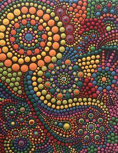 Idea para dibujo en piedras. Dot Art Painting, Mandala Painting, Pebble Painting, Painting Patterns, Pebble Art, Stone Painting, Mandala Pattern, Mandala Design, Deco Ethnic Chic