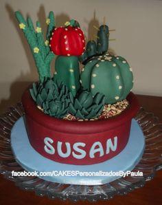 Cacti Cake - Cake by CakesByPaula
