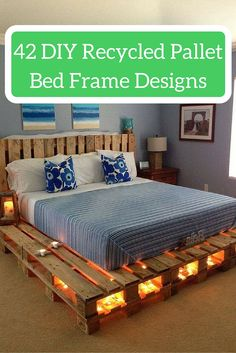 42 Pallet Bed Frame Ideas - You Have not Seen Ever Before - #101palletideas #pallets