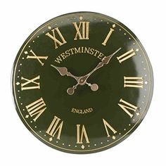 Outside-In Westminster Tower Green 15in Wall Clock (5065045)