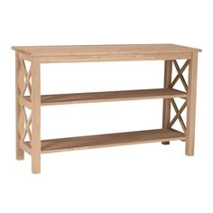 International Concepts Hampton Unfinished Rubberwood Rectangular Console and Sofa Table