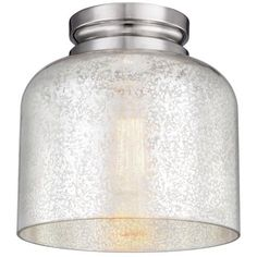 """Simple for the kitchen? Feiss Hounslow 9"""" High Nickel and Glass Ceiling Light - from Lamps Plus"""