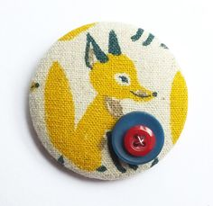 Fox Button Brooch £5.00