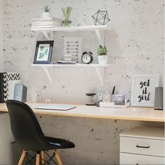 black and white office inspo