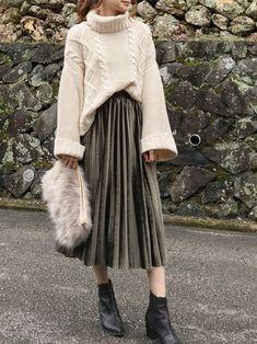 How often do you run across something fabulous, that influences your style? Muslim Fashion, Modest Fashion, Hijab Fashion, Korean Fashion, Women's Fashion, Fall Fashion Trends, Winter Fashion Outfits, Autumn Fashion, Mode Outfits