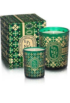 Diptyque Epinette, Perdigone & LE Winter 2011 Candle Coffret: Gifts for the Season Candle Logo, Ramadan Lantern, Candle Accessories, Candle Packaging, Holiday Candles, Perfume, Luxury Candles, Christmas Inspiration, Candle Jars