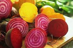 Beet Roots:   Here are some great reasons why beets should be part of our diet. 1- They combat the acidity in our body with its alkalinity. 2- They battle anemia. Being rich in high quality Iron, Beets and beet leaves regenerates and reactivates the red blood cells and supplies fresh oxygen to the body. 3- The copper in beets makes the iron more available to our system. 4- Help clear the arteries, (Atherosclerosis).