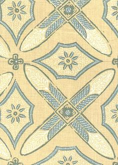 Collection: Batik Pattern: Graham Style No: 2618 Color: Yellow Content: 100% linen Width: 54 in Repeat: 28 in