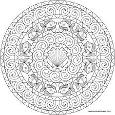 Goldfish Mandala to color free downloadable templates on webpage http://www.donteatthepaste.com/2014/04/goldfish-mandala-to-color.html