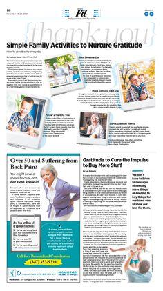 Simple Family Activities to Nurture Gratitude|Epoch Times #Health #newspaper #editorialdesign