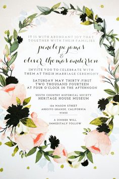 Love Grows Wedding Inspiration