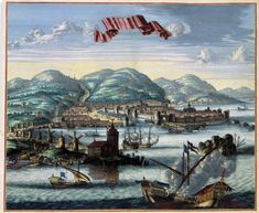 Chios Panoramic Greece - Jansson 1657 - 23 x Chios Greece, Greece Map, Greece People, Greece Painting, Photographs Of People, Old Maps, Restoration, Island, City