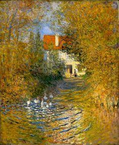 Geese in the creek - Claude Monet. Monet is so recognizable. Monet Paintings, Impressionist Paintings, Paintings I Love, Beautiful Paintings, Landscape Paintings, House Paintings, Impressionism Art, Claude Monet, Pierre Auguste Renoir