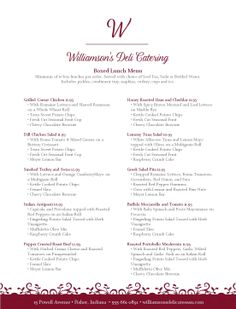 Catering Menu Ideas  Catering Menu  Catering Ideas