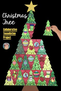 Contemporary and fun Christmas art projects for your classroom!