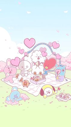 Pin by orn-in rin on goodnotes wallpaper in 2019 Kawaii Wallpaper, Bts Wallpaper, Iphone Wallpaper, Bts Chibi, Bts Backgrounds, Bts Drawings, Line Friends, Bts Lockscreen, Bts Pictures