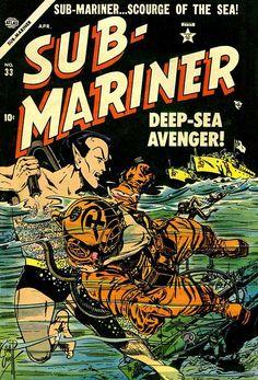 Sub-Mariner (Golden Age) #33, cover by Bill Everett