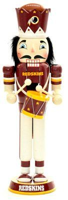 Washington Redskins 14-Inch Drummer Nutcracker by Unknown. $28.75. Team logo and uniform add a fun touch to your Christmas decorations. Lever opens and closes the jaw for classic appeal. Measures 14 inches. NFL Washington Redskins 14-Inch Drummer Nutcracker