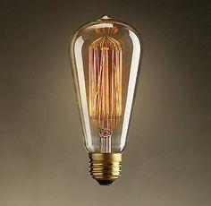 Antique vintage style edison bulb light bulbs 40w 110v 220v radiolight T64 squirrel cage Filament B22 bayonet fitting light bulb