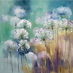 Canvas Wall Art for Every Budget Dandelion Wall Art, Dandelion Painting, Acrylic Painting Flowers, Abstract Flowers, Acrylic Painting Canvas, Canvas Art, Paint Flowers, Flower Paintings, Lapin Art