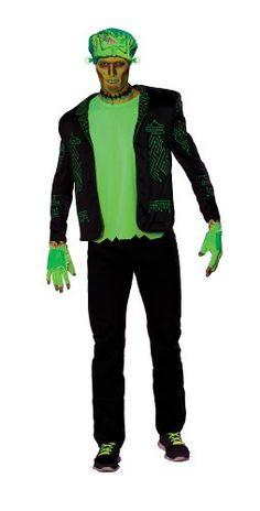 Rubies Costume Haunted Rave Light Activated Franken Raver Costume Black Standard @ niftywarehouse.com #NiftyWarehouse #Frankenstein #Halloween #Horror #HorrorMovies #ClassicHorror #Movies