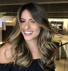 63 stunning examples of brown ombre hair - Hairstyles Trends Brown Ombre Hair, Brown Hair Balayage, Brown Blonde Hair, Ombre Hair Color, Brunette Hair, Hair Highlights, Dark Hair, Cabelo Ombre Hair, Hair Contouring