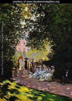 The Parc Monceau, Paris 2 - Claude Oscar Monet - www.claudemonetgallery.org