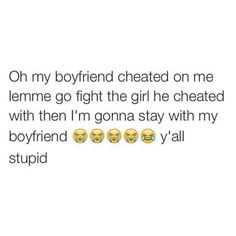 "TheBahamianPrincess♚ True... It's not the girls fault. It's ""your"" mans fault Bahahaha"