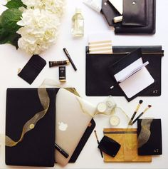 Monogrammed and Minimalist Leather Accessories from The Daily Edited | StyleCaster