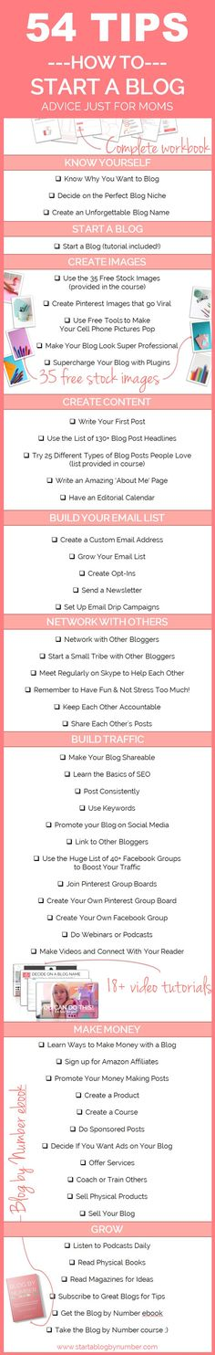 Step by step course to start a blog. Made especially for moms who want to make money from home and start a blog. This course is full of amazing tips for beginning bloggers!! Love the freebies too!!
