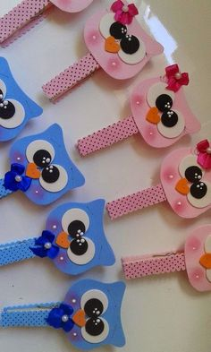 34 new Ideas for baby shower distintivos pinzas Kids Crafts, Owl Crafts, Diy And Crafts, Paper Crafts, Baby Shawer, Baby Owls, Paperclip Crafts, Pot A Crayon, Ideas Para Fiestas