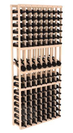 Handmade Wooden 8 Column 120 Bottle Display Row Wine Cellar Kit in Ponderosa Pine. 13 Stain Combinations to Choose From! : Handmade Wooden 8 Column 120 Bottle Display Row Wine Cellar Kit in Ponderosa Pine. Wine Racks America, Wine Cellar Racks, Wine Cellars, Wine Rack Design, Bottle Display, Wine Case, Wine Fridge, Wine Refrigerator, Wood Display