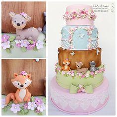 First Birthday Cupcakes, 90th Birthday Parties, Birthday Cake, Bolo Fack, Baby Girl Cakes, Little Cakes, Sugar Art, Baby Shower Cakes, Cake Art