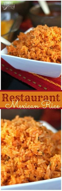 Our Restaurant Style Mexican Rice rivals anything you can get in a restaurant. It has the perfect consistency and just the right amount of seasoning. via @favfamilyrecipz