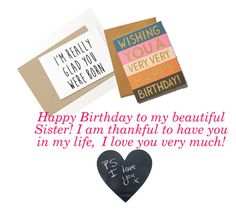 """Happy birthday Sister"" by fredericaehimen on Polyvore featuring art"