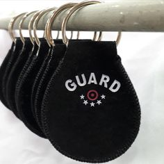 Retro Scales /& Stripes Genuine Leather Keychain Personalized