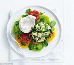 Donna Hay's lemon chicken with tomato salad