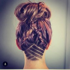 "Love the braids with the undercut. #undercutdesigns"""