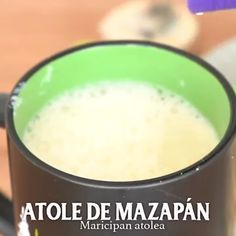 Prepare this Marzipan Atole Recipe in a very easy recipe to prepare, especially in winter times. Marzipan is a sweet made from peanuts, and will give it a very special touch. Mexican Cooking, Mexican Food Recipes, Dessert Recipes, Sweet Recipes, Tasty Videos, Food Videos, Atole Recipe, Yummy Drinks, Yummy Food