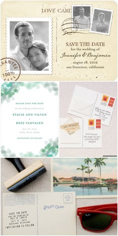 Save-The-Date Inspiration | Engaged & Inspired