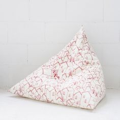 Pyramini floor cushion in rooftops