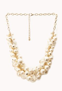 Opulent Faux Pearl Necklace. Very versatile - would be great with a sweater over a button down, a crew neck sweater, or high or low cut dress.