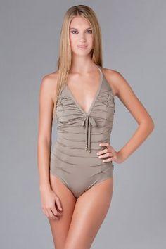 b1b34aaf92af1 Bikini Galleries, One Piece Swimsuit, Taupe, Larger, Swimsuit, Unitards,  Womens Bodysuit, Storage, One Piece Swimwear