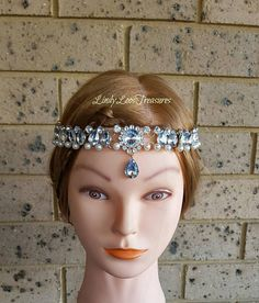 Bridal Headbands, Bridal Headpieces, Bridal Crown, Rhinestone Wedding, Hair Pieces, Gatsby, Crowns, Depression, Anxiety