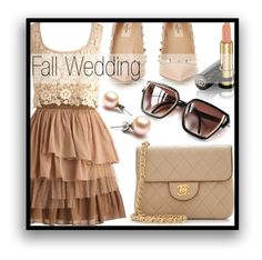 """Fall Wedding"" by mistressofdarkness ❤ liked on Polyvore featuring Valentino, Gucci and Chanel"
