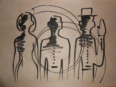 """Saatchi Art Artist MISHA DONTSOV; Drawing, """"They Come to Your Door """" #art"""