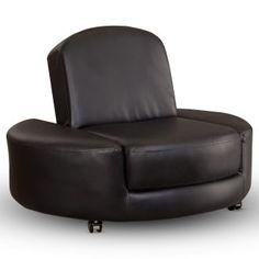 37 in. Berkeley Ottoman Chair - Black