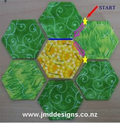 I love English paper piecing.. this tutorial makes me want to get back to my pile of hexagons.