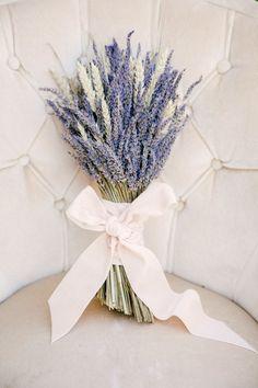 Lavender as wedding flowers